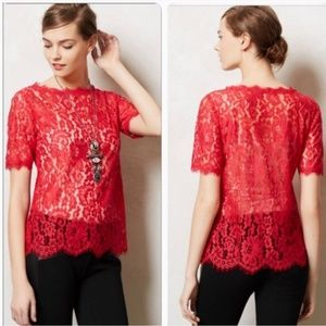 Vanessa Virginia Elysian Eyelash Lace Blouse